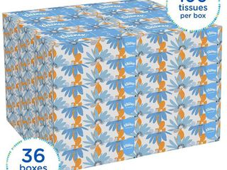 Kleenex Professional Facial Tissue for Business   Flat Tissue Boxes  36 Boxes   Case  100 Tissues   Box  RETAIl  39 28
