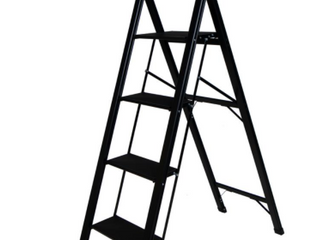 Xtend   Climb light Slimline 4 Step ladder MATTE BlACK  RETAIl  136 99