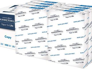 Hammermill Printer Paper  20 lb Copy Paper  8 5 x 11   8 Ream  4 000 Sheets    92 Bright  RETAIl  28 78