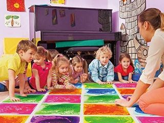 Art3d 6 Tile Sensory Room Tile Multi Color Exercise Mat liquid Encased Floor Playmat Kids Play Floor Tile  16 Sq Ft  RETAIl  154 99