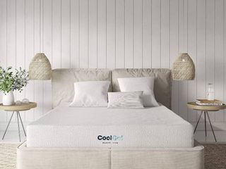 Classic Brands Cool Ventilated Gel Memory Foam 8 Inch Mattress  Twin  White  RETAIl  159 99