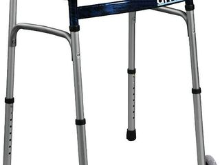 Drive Medical Trigger Release Folding Walker  Brushed Steel  RETAIl  43 59