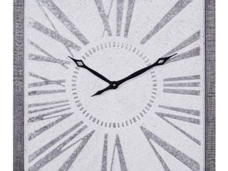 Metal Wall Clock in Grey and Black Finish with Modern Vintage Style   25  x 25  Retail 75 48
