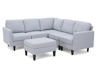Incomplete  Corner Piece Only  Zahra 6 piece Sofa Sectional with Ottoman by Christopher Knight Home
