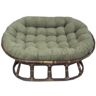 Blazing Needles 65 inch Microsuede Double Papasan Cushion  Base Not Included  Retail 123 49