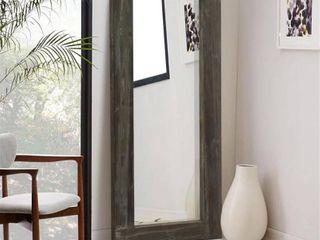 Rustic Wood Rectangular Freestanding Full length Floor Mirror   58 x24  Retail 149 99