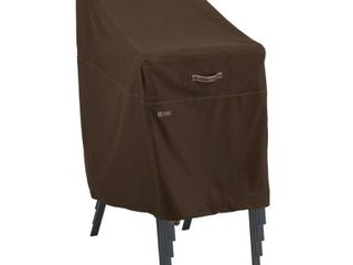 Classic Accessories Madrona Waterproof 25 5 Inch Stackable Patio Chair Cover