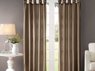 lillian Twisted Tab lined light Filtering Curtain Panel Pair  Bronze
