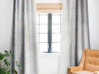 Deny Designs Multicolored Pastel Bubbles Dream Blackout Curtain Panel Pair 48  x 96  Retail 83 49