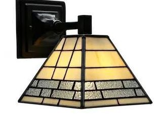 Havenside Home Nabire Grey Stained Glass Black Metal light Fixture  Retail 89 49