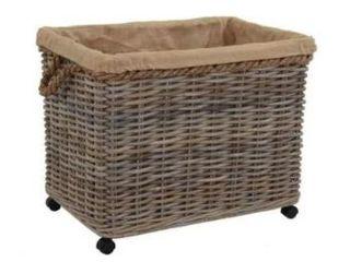 East at Main s Kelliann large Kubu Grey Rolling Basket  Retail 124 99