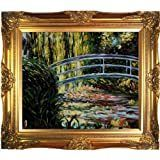 Claude Monet  The Japanese Bridge  Hand Painted Framed Oil Reproduction on Canvas  Retail 205 49
