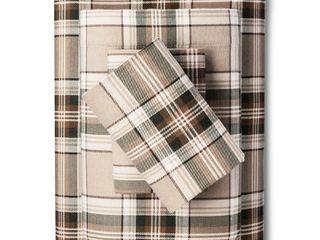 Eddie Bauer  Cotton Flannel Bed Sheet Set  Full