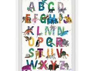 Marmont Hill   Handmade Alphabet Jungle Framed Print