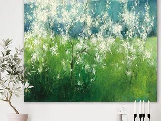 Designart  Green Mountain Spring  Cottage Premium Canvas Wall Art   Blue  Retail 92 49
