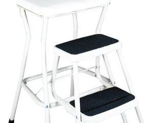 Cosco Retro White Counter Chair   Step Stool  Retail 77 98