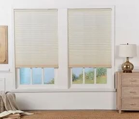 Copper Grove Yerevan Ecru light filtering Pleated Shade Set of 2  Slight Damage  See Pictures