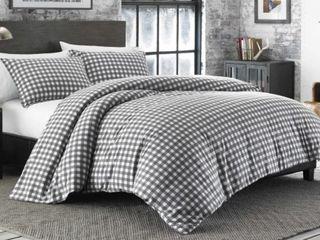Eddie Bauer Preston Cinder Flannel Comforter Set  Retail 120 15