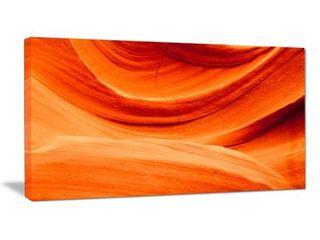 Antelope Canyon Orange Wall   landscape Photo Canvas Print