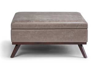 Wyndenhall Ethan Mid Century Modern Square Table Ottoman  lid Doesn t line Up Perfectly  See Pictures  Retail 303 99