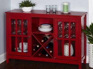 Simple living Portland Wood Glass Wine Buffet  Retail 283 49