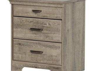 Versa Nightstand with Charging Station   Drawers by South Shore  Retail 198 31