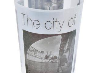 Evideco Bath Trashcan Paris City Waste Bin   7 68 l x 7 68 W x 9 45   H
