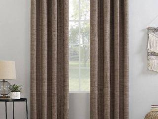 Sun Zero Kline Burlap Weave Thermal Extreme 100  Total Blackout Grommet Curtain Panel  Set Of Two Panels  54x84