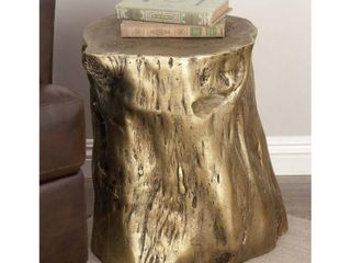 Eclectic 19 x 18 Inch Tree Trunk Fiberglass Foot Stool by Studio 350  Retail 113 16  little Damage On One Side