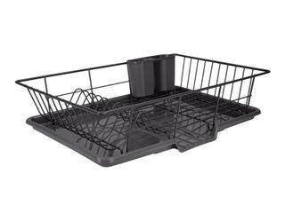 Home Basics 3 piece Dish Rack Drainer Set