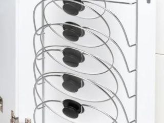 lid Organizer Rack 5 Slot Wall Mount Organizer by lavish Home