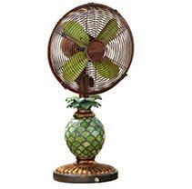 Deco Breeze Mosaic Pineapple Table Top Fan lamp