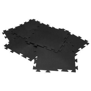 Rubber Cal  Armor lock Fitness  Interlocking 20 inch Square Rubber Gym Mats  Set of 8  Covers 22 22 Square Feet    Retail 104 99