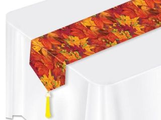 Beistle Printed Fall leaf Table Runner  11  x 6