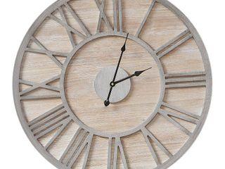 Madison Park Mason Natural Wall Clock 24