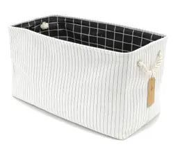 The Curated Nomad Sani Handmade Canvas Storage Bin with Handles