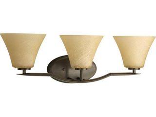 Progress lighting Bronze Bravo Collection 3 light Antique Bronze Bath light