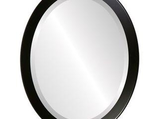 Vienna Framed Oval Mirror in Matte Black  Retail 122 49