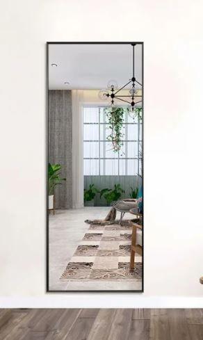 Modern Aluminum Alloy Thin Framed Full length Floor Mirror   Retail 124 99