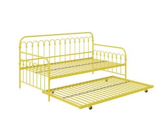 Novogratz Bright Pop Metal Daybed and Roll Out Trundle  Retail 299 99