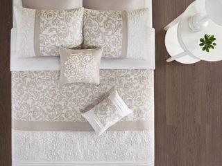 510 Design lynda Embroidered 8 Piece King Comforter Set  Retail 91 67