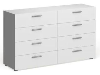 Porch   Den Angus Space saving Foiled Surface 8 drawer Double Dresser   Retail 247 99  Missing Hardware