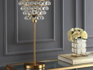 Buckingham 25  Crystal Metal Table lamp by JONATHAN Y  Retail 148 99