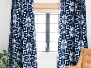 Jacqueline Maldonado Shibori Indigo Blackout Curtain Panel  2 Panels  48x84