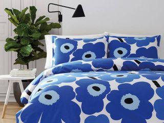 Marimekko Unikko Blue Twin 2 Piece Comforter Set  Retail 129 99