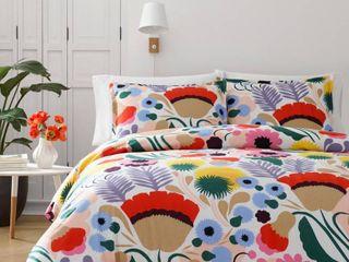 Marimekko Ojakellukka Comforter   Sham Set  Size Full Queen   Blue