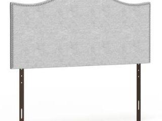 Copper Grove Mountjoy King size Nailhead Upholstered Headboard  Retail 209 99