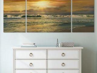 Wexford Home  Close To Malibu  Premium Multi Piece Art 40  x 80   Retail 158 49