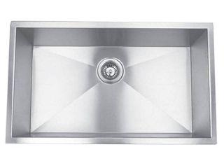 AA Warehousing  Hardy  Undermount Right Angled Sink Single Bowl Stainless Steel Kitchen Sink  Retail 181 99