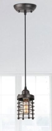 Industrial 1 light Black Spiral Mini Pendent light Fixture   l3 9 xW3 9 xH6 7